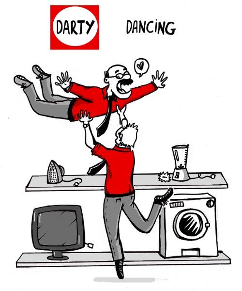 Le jeu de mot du siècle darty dancing. J'ai mis ça ca j'ai adoré mon travail chez darty. Servir des boissons c'est génial. J'ai rencontré plein de gens, j'ai pu me ressourcer avec ces rencontres