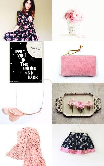 Romantic Gifts for Her by Lelaine on Etsy--Pinned with TreasuryPin.com #etsy #shop #pink #romantic #gift