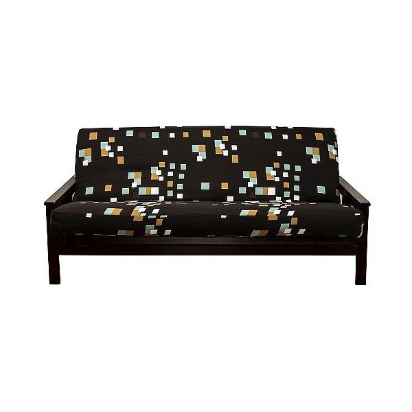 SIScovers Modern Blocks Futon Cover ($54) ❤ liked on Polyvore featuring home, furniture, sofas, black, modern futons, black futon mattress, modern furniture, slip cover couch and mod sofa