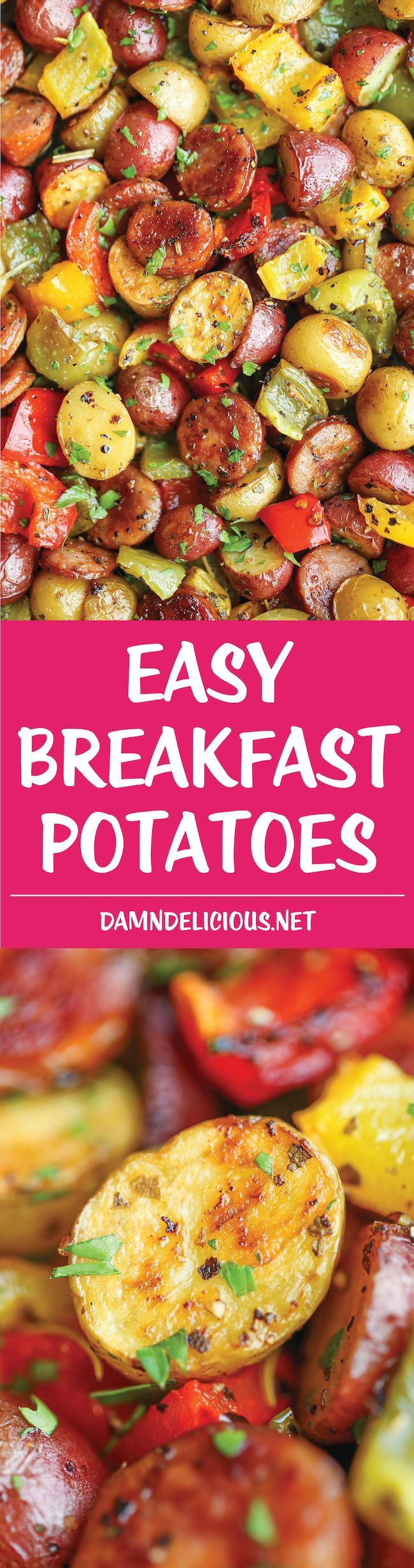 Easy Breakfast Potatoes - The BEST and EASIEST breakfast potatoes ever. No…