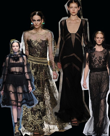 Sheer glamour. Milan Fashion Week trends autumn/winter 2012