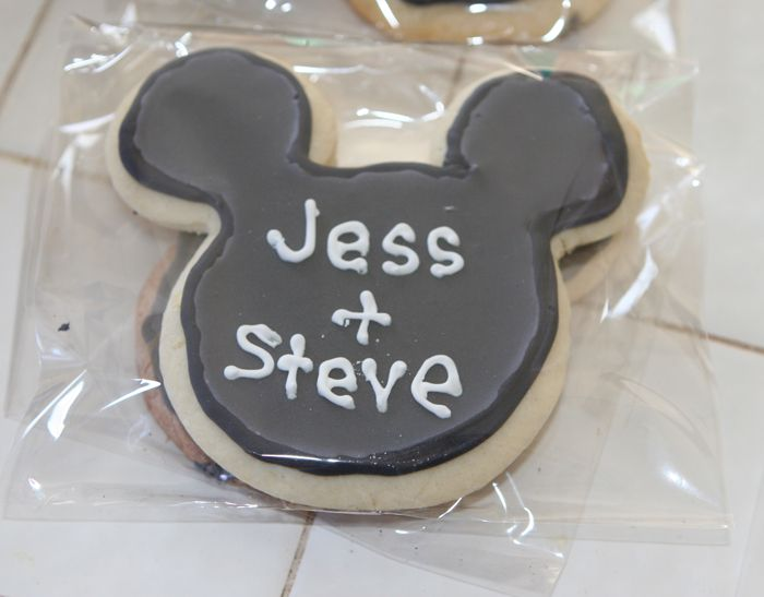 Mickey Mouse Wedding Favor Cookie Disney