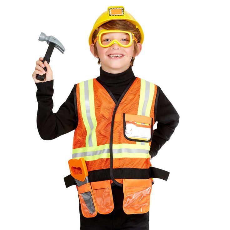 Déguisement de travailleur de la construction                             orange Enfant  - Kiabi 30€