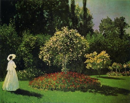 Dame au jardin by Claude Monet (1867)