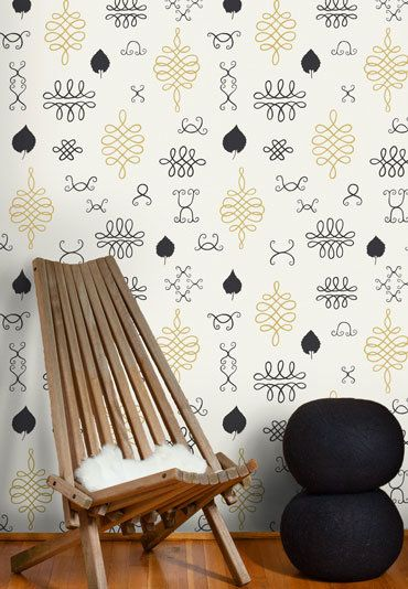 juju papers lovely wallpaper (via DesignSponge)