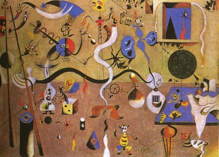 Tableaux sur toile, reproduction de Miro, The Harlequin's Carnival, 66x93cm