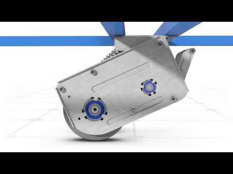 TENTE, roulette motorisée e-drive Industriel - YouTube