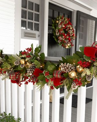 1011 best christmas primitive colonial country Outdoor christmas garland ideas