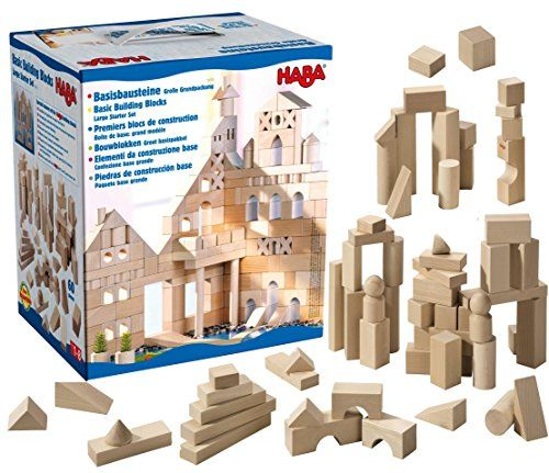 Attrayant May U0026 Z Wooden Building Blocks Set   Colored Wood Block Set With Alphabet  With Storage Bucket   60PCS