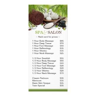 Promotional spa massage salon rack cards by pics4merch - Salon de massage montpellier ...