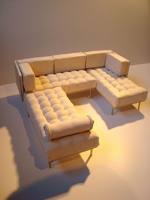 The Modern Sofa Set, custom made by Emilia Couture. Can be made in 1:4 scale
