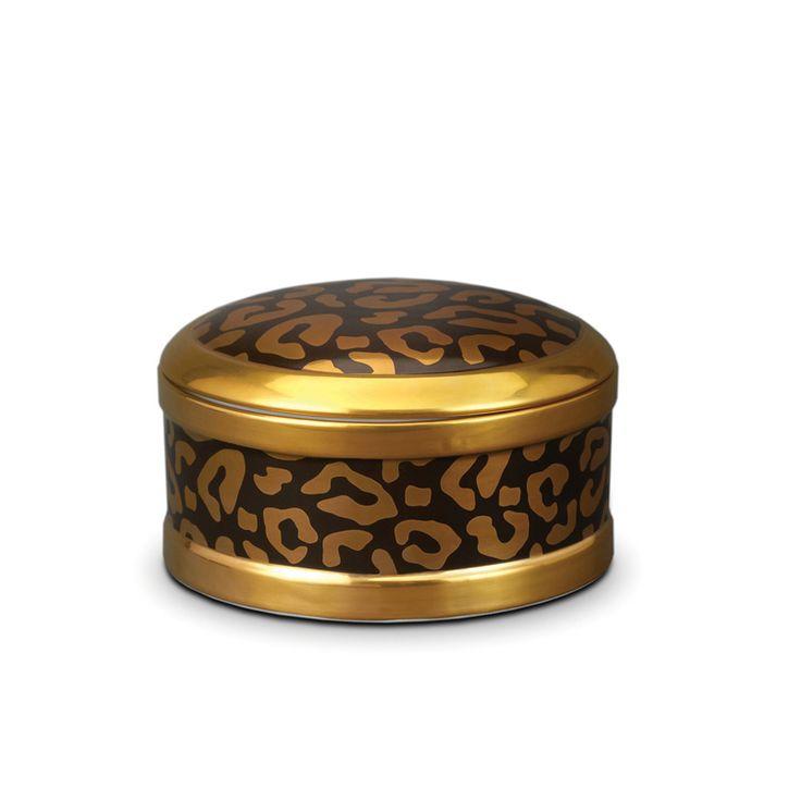 Lobject leopard round box