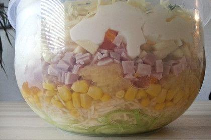 24 - Stunden - Schichtsalat mit Ananas und Mandarinen 1
