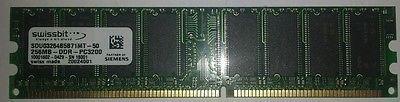 512MB (2 X 256MB) PC3200 DDR 400 CL3 Swissbit RAM working 184pin non ECC