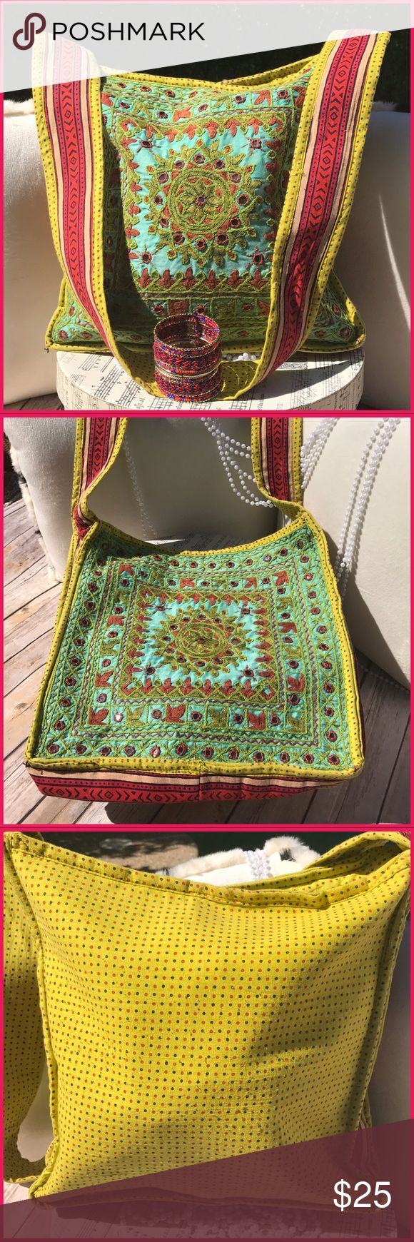 Boho My boho crew, this fun fearless colorful shoulder or crossbody is summer slay!. Good to great condition, hardly touched. Easy casual elegance boutique Bags