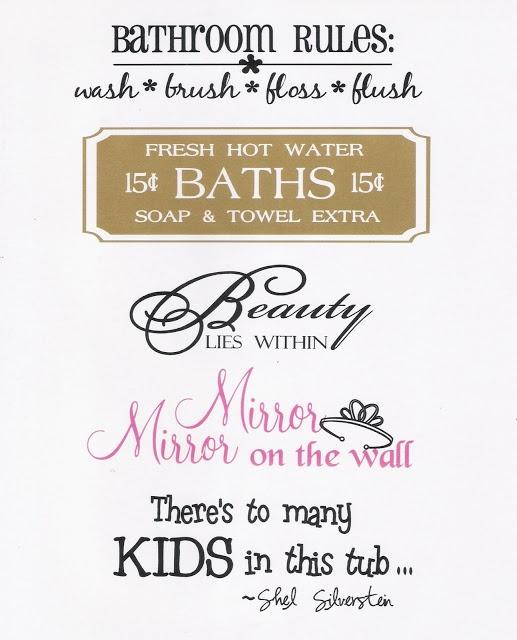 Whatever You Say: Splish Splash...Bathroom Sayings