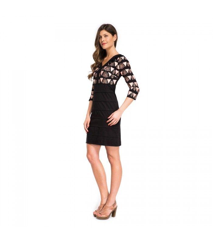 Elegante vestido para eventos. Comprar vestidos elegantes baratos online para mujer. Precioso vestido para ir a trabajar a la oficina. Comprar vestidos baratos online.