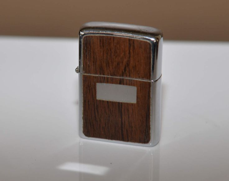 1979 Wood Grain Zippo Slim line Not monogrammed engraved. Used vintage lighter by justbecauseshecan on Etsy