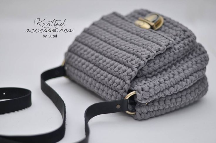 "142 Likes, 5 Comments - КОРЗИНКИ | СУМКИ | ТАПОЧКИ (@knitted_accessories_by_guzel) on Instagram: ""НОВИНКА! Сумка с карманом Очень стильная и вместительная! Связана из трикотажной пряжи,…"""