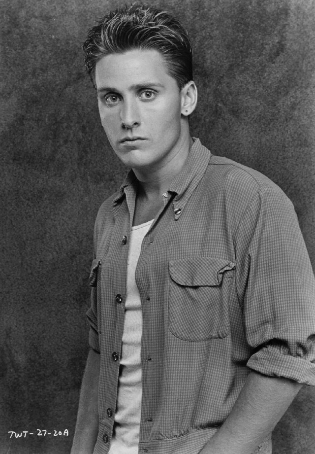 """Emilio Estevez that was then... The """"Jock"""" of the Breakfast Club. He is way better than his little brother Charlie."""