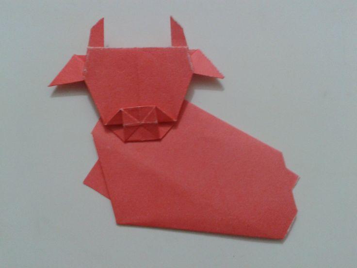 origami cow papiroflexia y marcapaginas pinterest