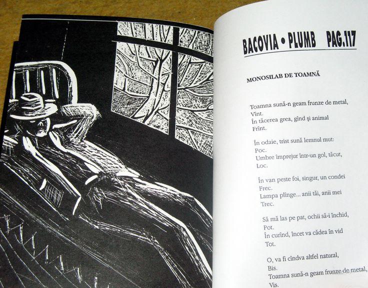 Bacovia, Plumb, ilustratie la poezie ,,Monosilab de toamna''
