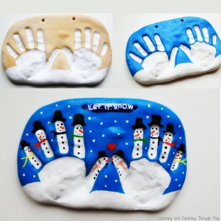 We've put together a fantastic collection of hand and footprint art for you to make. You'll love the Salt Dough Snowman Handprint Art and the Reindeer one too!