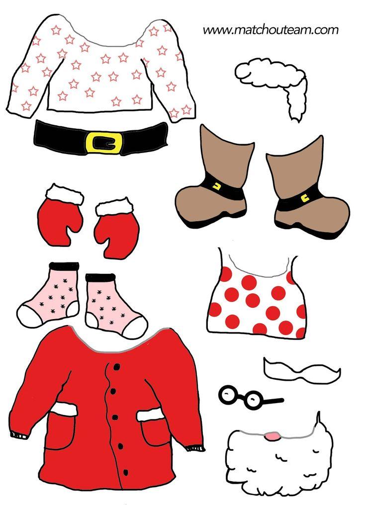 père Noël à habiller - 24 éléments pour attendre Noël