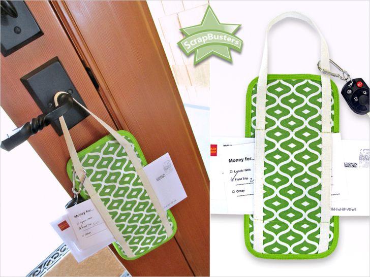 ScrapBusters: Doorknob Reminder Caddy   Sew4Home