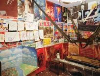 Ilya Kabakov (b. 1933). The Man Who Flew into Space, 1981–88. Installation: six poster panels with collage; mixed media. Room dimensions 96 x 95 x 147 cm. Centre Georges Pompidou, Musée d´ Art Moderne, Paris
