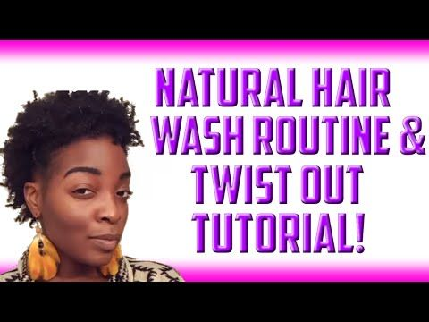 Natural Hair Wash Routine (4c) + Twist Out Tutorial!