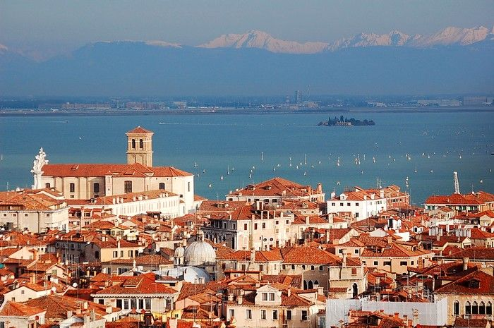 Looking at the Dolomites from Venice...What a view!...