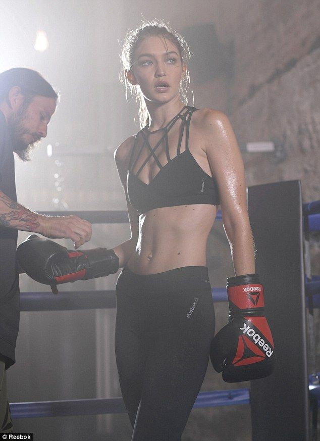 Fitness model: Gigi Hadid is the newest face of Reebok's #PerfectNever campaign...