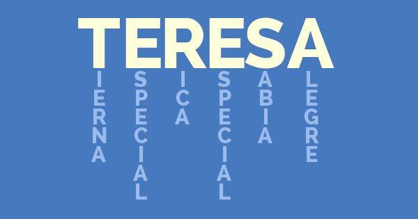 ¿Que significa tu nombre? ✿⊱╮Teresa Restegui http://www.pinterest.com/teretegui/✿⊱╮