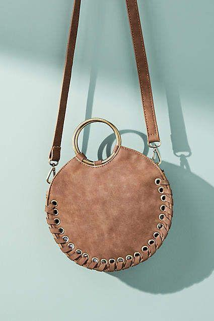 3b96ac8554 Anthropologie Stitched Circular Crossbody Bag