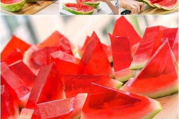 Receta gelatina de sandía