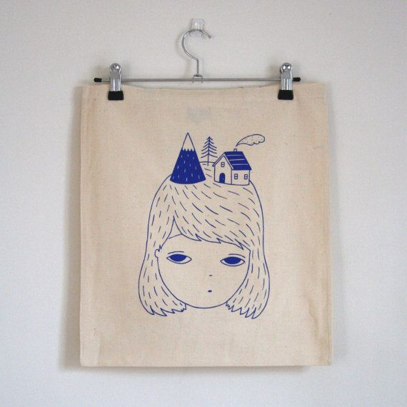 Thoughts of Home Tote Bag by pannikin on Etsy, $15.00