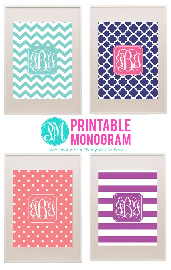 Best 25 free printable monogram ideas on pinterest monogram letters font monogram binder for Monogram template free