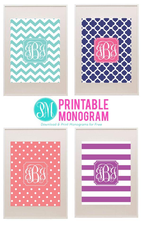 Best 25+ Printable monogram ideas on Pinterest | Free printable ...