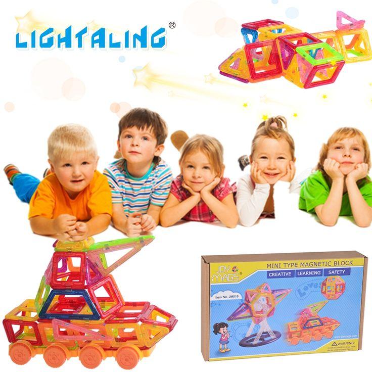 ==> [Free Shipping] Buy Best Lightaling 130 Pieces Magnetic Building Blocks Mini Designer DIY Educational Construction Designer Bricks Plastic Children Toys Online with LOWEST Price | 32680536663