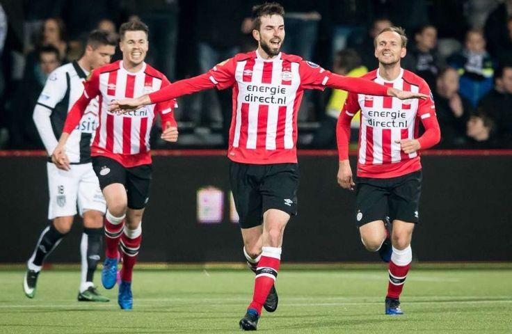Davy Pröpper scoort de winnende goal tegen Heracles op 2017-01-28
