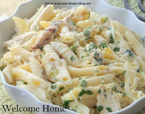 Welcome Home Blog: Four Cheese Penne with Grilled Chicken