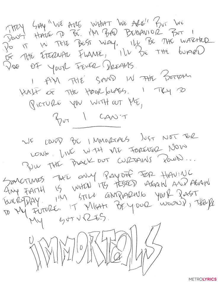 You'll Go 'Psycho' Over These Fall Out Boy Handwritten Lyrics from Pete Wentz | MetroLyrics