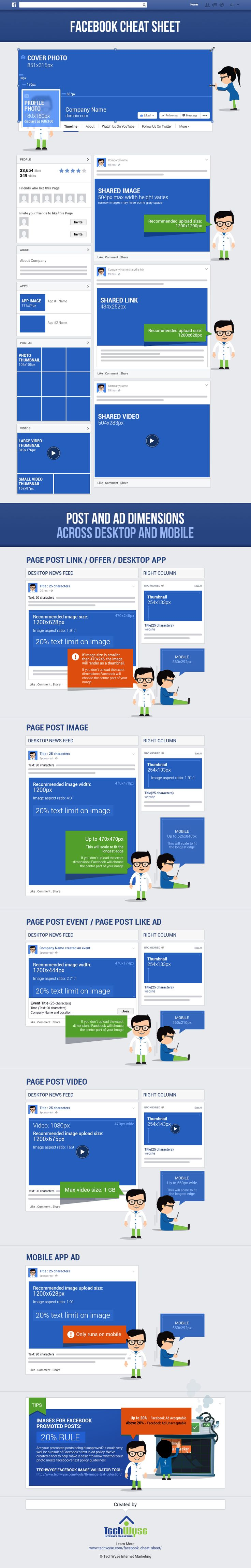 Facebook Cheat Sheet: Image Size and Dimensions UPDATED! December 2014!!