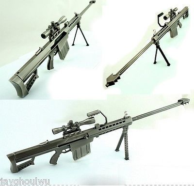 cool 17.7INCHES Barrett M82A1 Sniper Rifle 13.5 Full Metal BattleField Weapon Gun - For Sale Check more at http://shipperscentral.com/wp/product/17-7inches-barrett-m82a1-sniper-rifle-13-5-full-metal-battlefield-weapon-gun-for-sale/