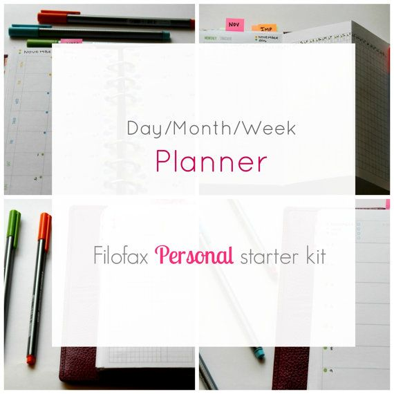 #Filofax #personal size  Filofax starter kit   #Daily #pages by PlanInk
