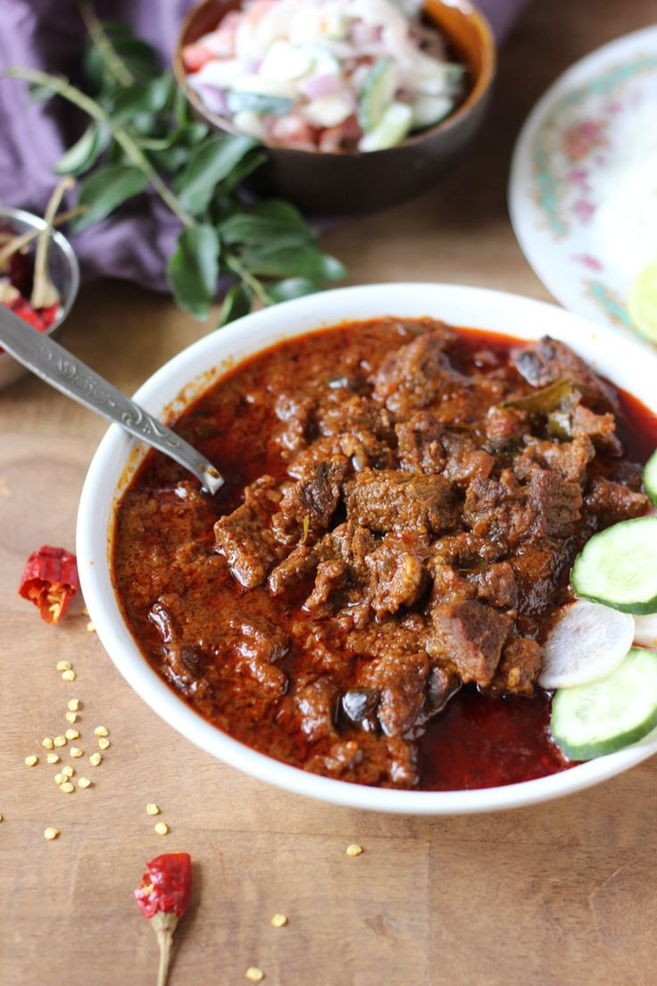 Vindaloo sounds like a very Indian word, especially since aloo means potato. But Vindaloo is a derived from the Portuguese dish carne de vinha d'alhos (meat marinated in wine-vinegar and garlic) that came to India along with Portuguese explorers in the fifteenth century. Fortunately for us, we embra