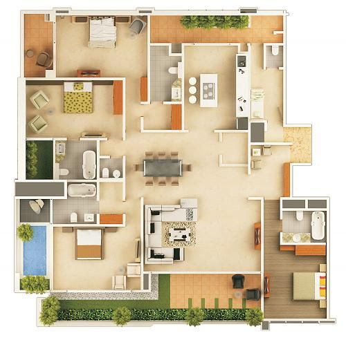 7 best plan  apartment photoshop  images on Pinterest