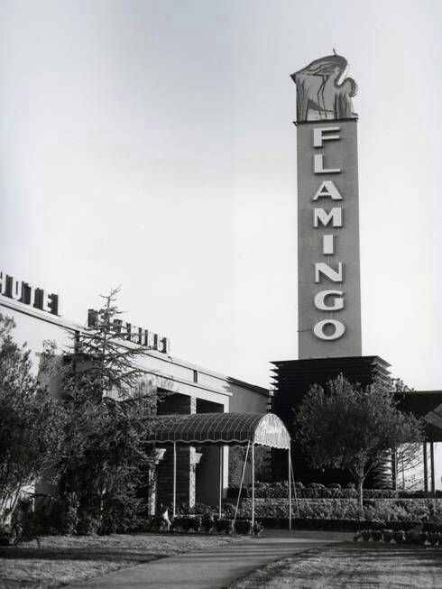 """Vintage Photo"" of the ""Flamingo Hotel & Casino back it days when the Mafia owned it."