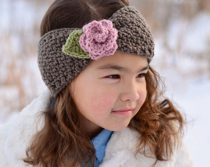 Crochet PATTERN – Top Knot Headwrap – crochet headband tied head wrap pattern (Infant Baby Toddler Child Adult sizes) – Instant PDF Download